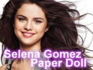 Selena Gomez paper doll
