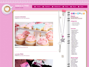 Pink Diary wp theme