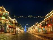 Mickey Wreaths and Big Christmas Tree on Disneyland