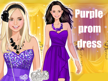 ♫ Purple prom dress♫