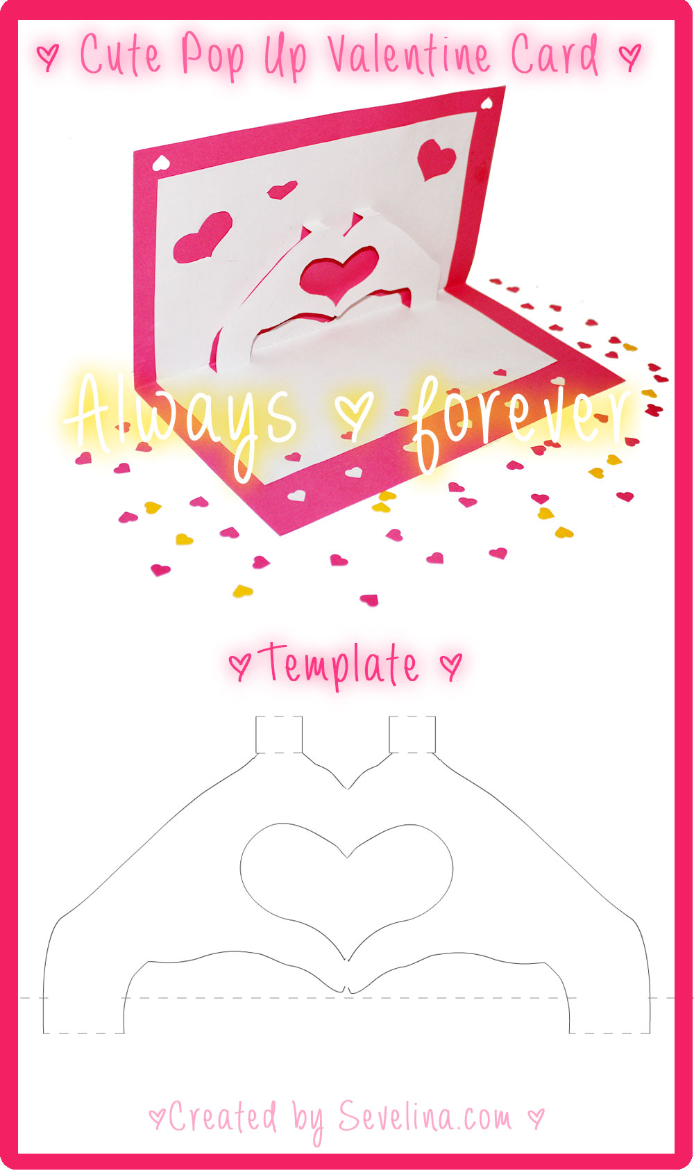love-hands valentine card free template