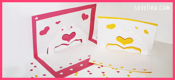 romantic velentin's day card step by step