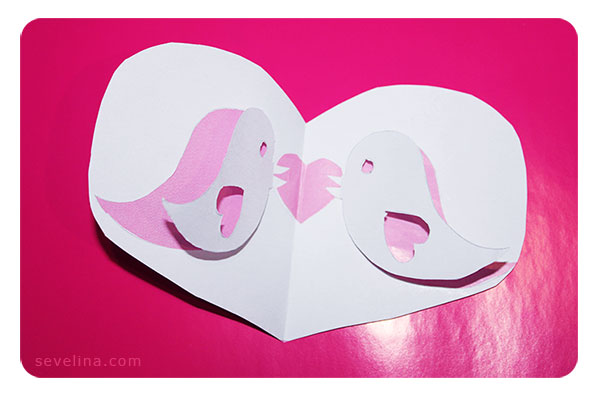 Tweet the love valentines pop up card template tweet love 1 my valentine card pronofoot35fo Image collections