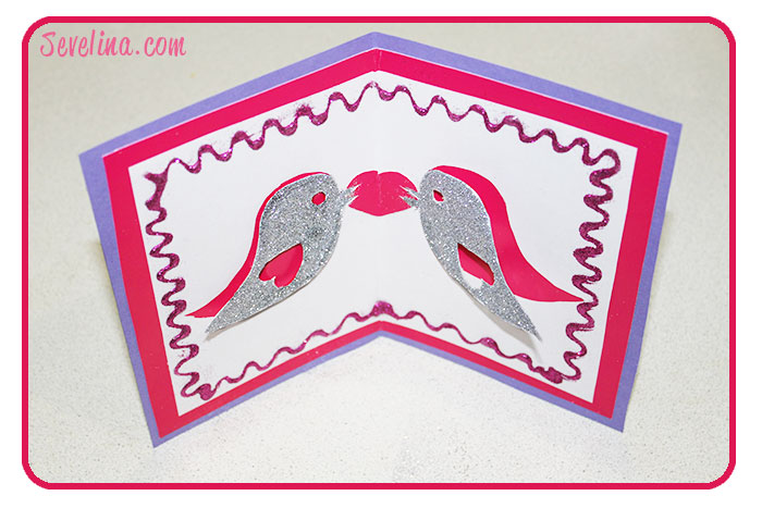 Tweet The Love Valentines Pop Up Card Template