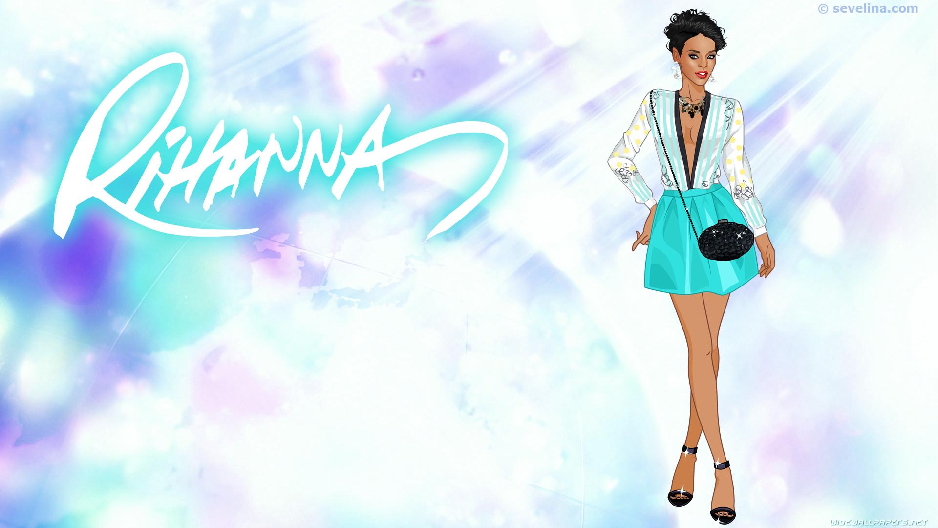 rihanna-wallpapers-2014-sevelina-dress-up-games-full hd