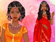 Indian Sari dress up