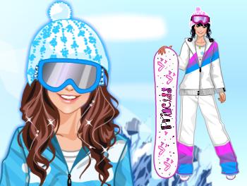 ❄️ Snowboarding Girl ❄️
